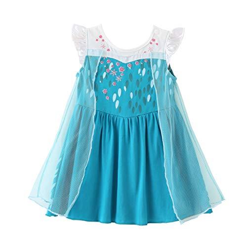Lito Angels Baby Mädchen Prinzessin ELSA Kleid Kostüm Weihnachten Halloween Party Verkleidung Karneval Cosplay 18-24 Monate