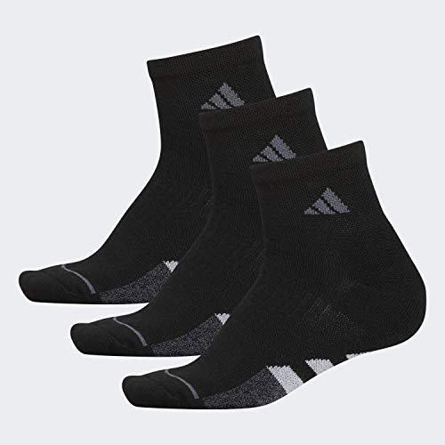 adidas Women's Cushioned Quarter Socks (3-pack), Black/Onix/Clear Onix/Black-Onix Marl, Medium (Shoe Size 5-10)