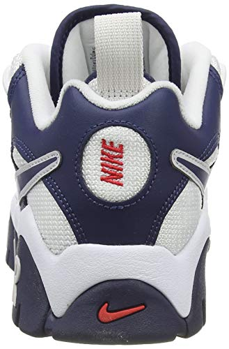 Nike Air Barrage Low, Zapatillas de bsquetbol Hombre, Midnight Navy Midnight Navy White Univ Red Vast Grey, 45 EU