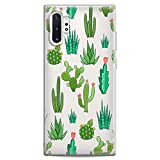 Cavka TPU Cover for Samsung Galaxy Case A91 A70 A51 A50 A40 A30 A20e A10 Lightweight Plant Cute Art Cactus Awesome Clear Soft Gift Green Pattern Cacti Flexible Silicone Slim fit Print Design Kawaii
