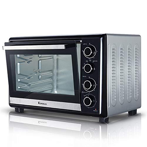 GALIMAXIA Elektro-Ofen Startseite Großvolumige Rotating Fleischgabel Unabhängige Temperaturregelung 38L Geschenke Kleingeräte (Color : Silver)