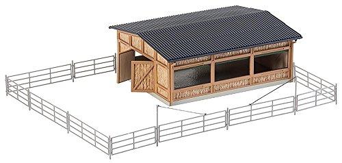 Faller FA 130547 - Viehunterstand, Zubehör für die Modelleisenbahn, Modellbau