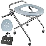 BLIKA Portable Toilet for Camping, 400LBS Weight Capacity...