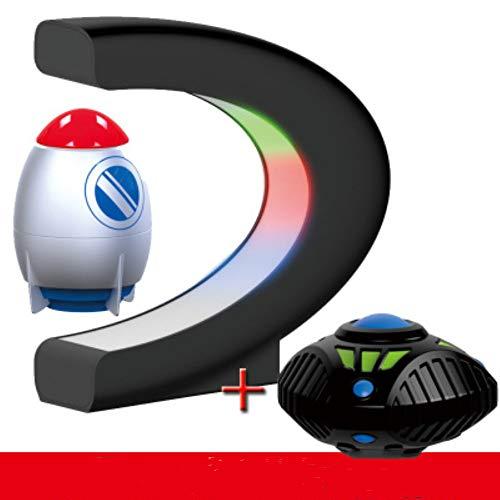 Magnetische Globe Shape LED kleuren Kaart van de wereld Gift Swivel Child, gebruik het als decoratie Desktop,2