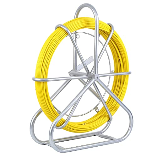 Yonntech 6 mm X 130 M Brin Rigide D'Aiguillage/Tirage De Câble Fibre De Verre Tige de canne Rodder Fiberglass Tirer le câble de fil de pointe Rouler le ruban de poisson