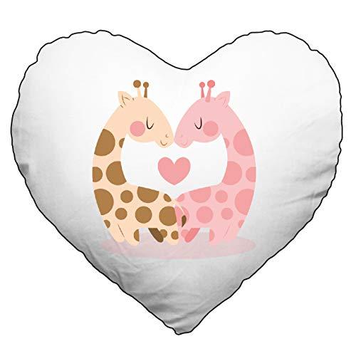 My Custom Style Coussins Polyester et Coton # Saint Valentin# Cuscino 40x40cm Cuore-sanvalentino-giraffelove_Nero