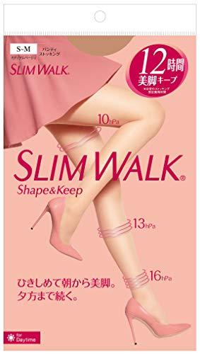 スリムウォーク(SLIMWALK)シェイプアンドキープ(Shape&Keep)パンティストッキングミディアムベージュS~Mサイズ(Pantystocking,MediumBeige,SM)着圧ストッキング