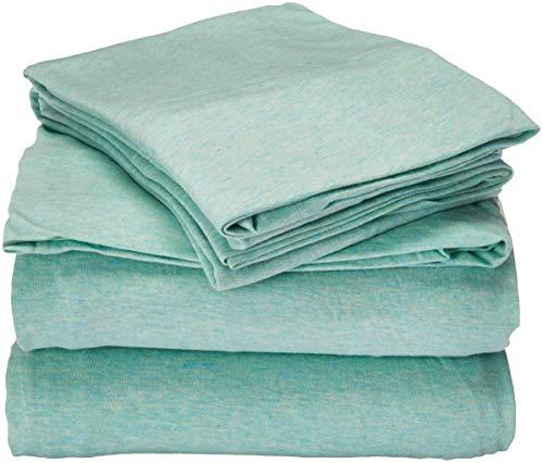 Urban Habitat Cold Weather Sheet Set Bedding 100% Cotton Ultra Soft, Full, Aqua