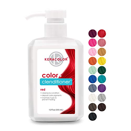 Keracolor Clenditioner RED Hair Dye - Semi Permanent Hair Color Depositing Conditioner, Cruelty-free, 12 Fl. Oz.