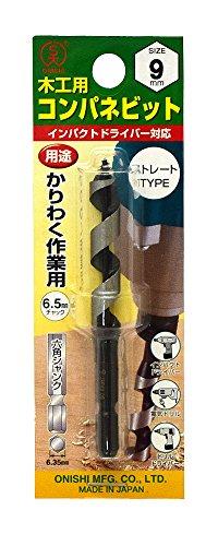 大西工業  コンパネビット<ストレート>(NO.18E) 9mm