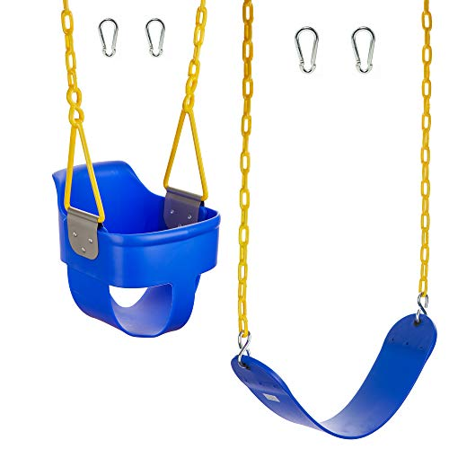 Squirrel Products High Back Full Bucket Swing 2.0...