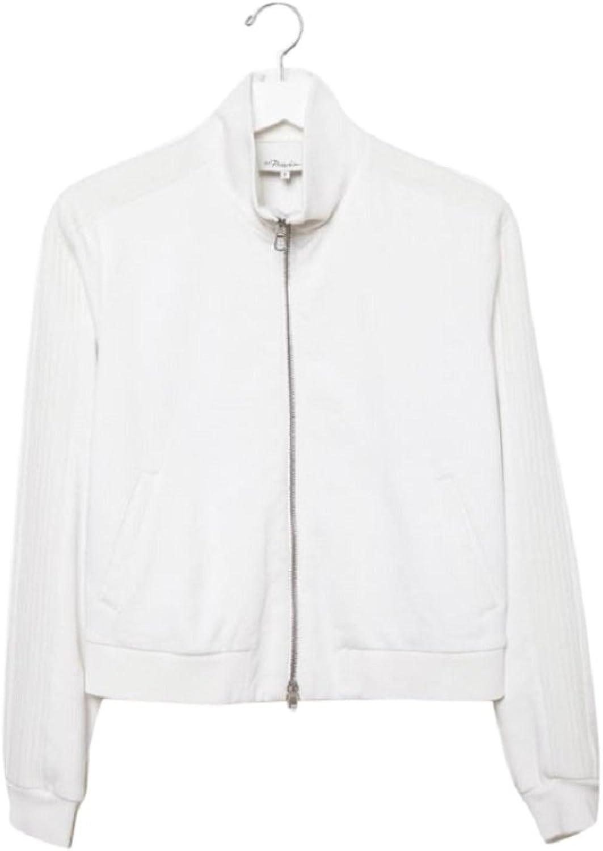3.1 Phillip Lim Trapunto White Track Jacket