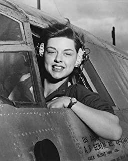 ConversationPrints WWII Woman Pilot Glossy Poster Picture Photo Print World war 2 air Force