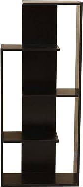 FEIFEI 本棚木製パネルブラックホームフロアスタンディング4層多機能ストレージラック51 * 24 * 120CM