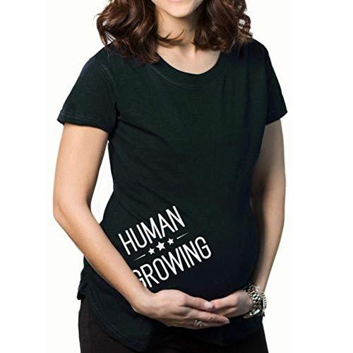 Yuandongxing Camisetas Divertidas Embarazo Camisetas anunciar Camiseta Maternidad Camiseta K50 S Novedad