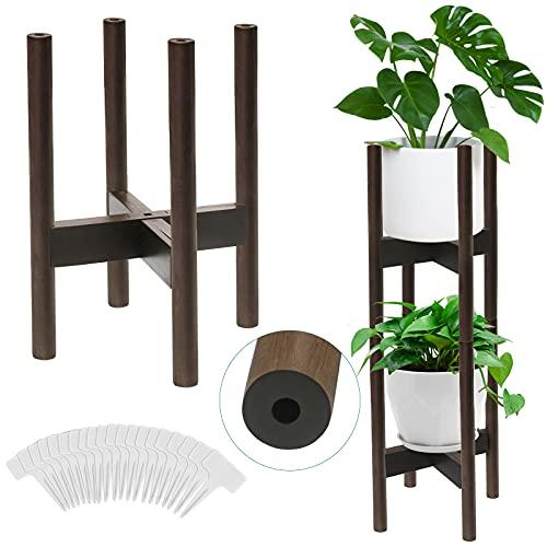 AGJIDSO Soporte para Plantas,3 Pack Soporte para Plantas Ajustable,Soporte de Plantas expandible para Interiores y Exteriores, 21-30 cm(Maceta y No Incluidas)