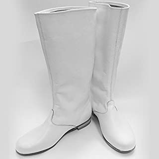 Cossack boots Russian leather boots men white dance shoes