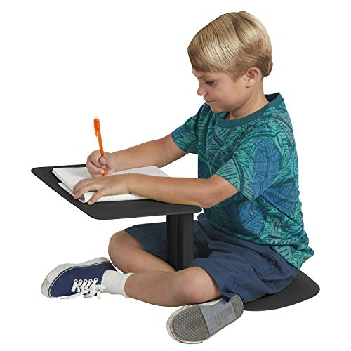ECR4Kids The Surf Portable Lap Desk, Flexible Seating for Homeschool and Classrooms, One-Piece Writing Table for Kids, Teens and Adults, GREENGUARD [Gold] Certified, Black