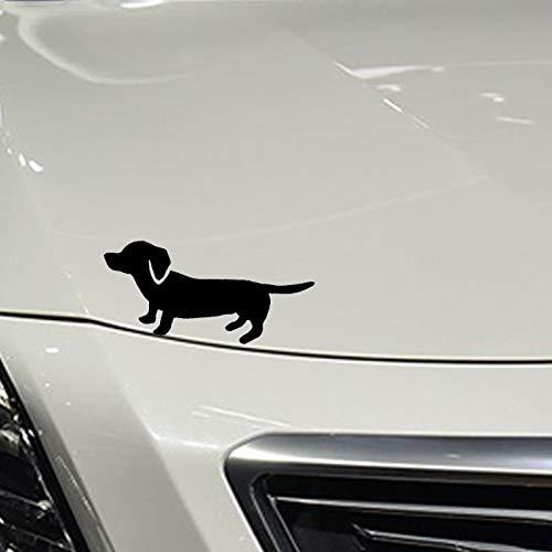 Atiehua 15,2 Cm * 5,3 Cm Nette Dackel Wiener Hund Auto Aufkleber C2-3053