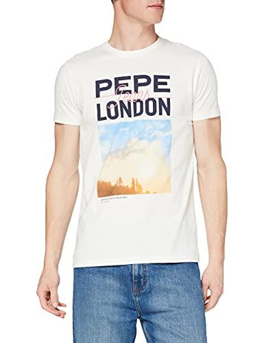 Pepe Jeans Manu Camiseta, 803off White, XS para Hombre