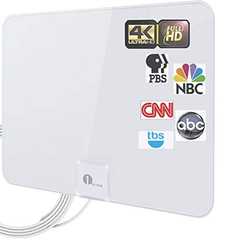 TV Antenna - Latest Amplified HD Digital Indoor Antenna Long 200 Miles Range HDTV Antenna - 16.5ft Coax Cable Indoor Antenna for 4K Local Channels - Support All Television