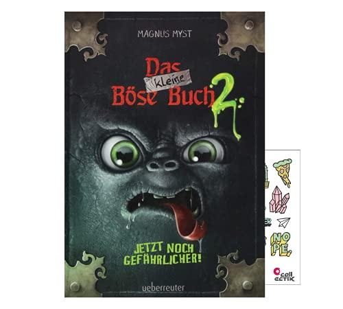 Das kleine Böse Buch 2: Jetzt noch gefährlicher! (Gebundenes Buch) + Kinder- Stickerbogen