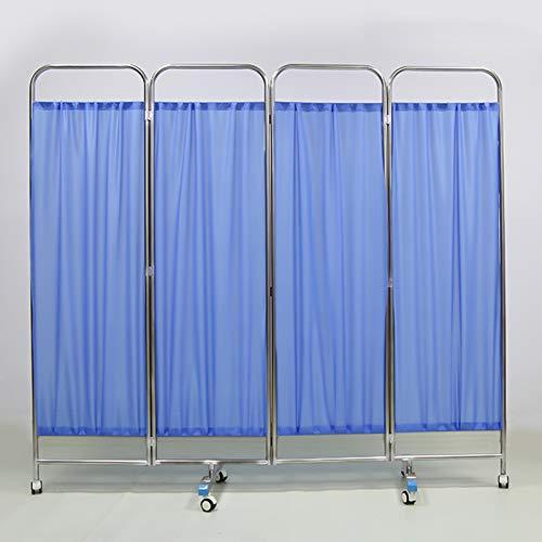 Hospital de Muebles de la Sala 4 Cama Plegable Biombo Cortina Separador de Habitaciones, Pantallas Cirugía Pantalla de privacidad (Size : Four Fold)
