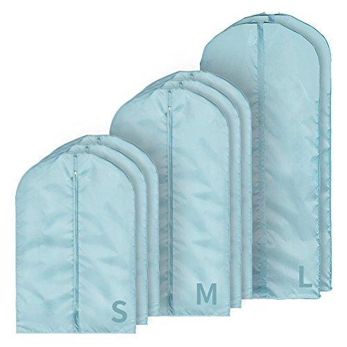 QFFL Sac de compression sous vide Bleu Vêtements créatifs Housse de protection/Manteau Housse de vêtements étanche à l'humidité/Vêtements Trier Sac de rangement (Un pack de 8) Sac de protection