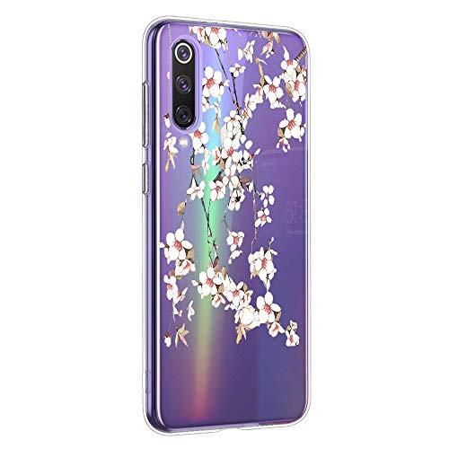 Oihxse Mandala Motif Case Compatible pour Huawei Mate 30 Coque Transparente Silicone TPU Souple Protection Etui Ultra Slim Mehndi Floral Datura Dentelle Housse Bumper (A11)