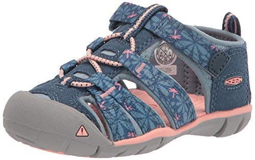 KEEN Seacamp II CNX-C Sandal, Real Teal/Stone Blue, 31 EU
