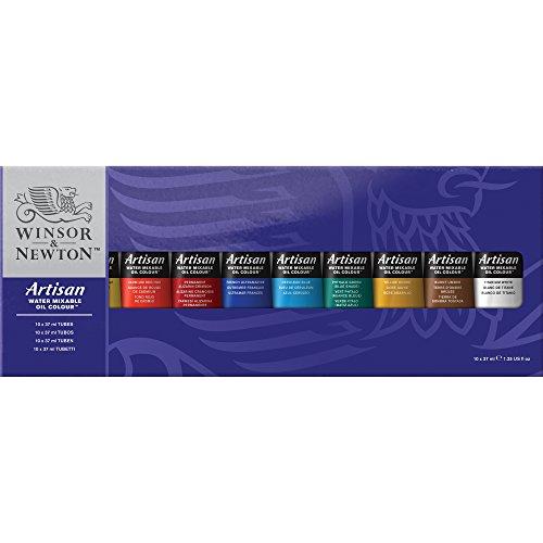 Winsor & Newton Set de óleos miscibles en Agua 10 Tubos