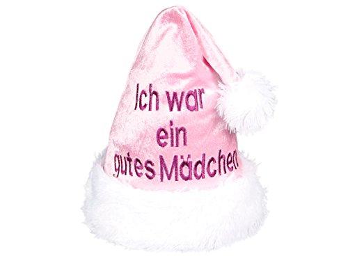 Alsino Weihnachtsmütze 'Ich war EIN gutes Mädchen' rosa wm-11