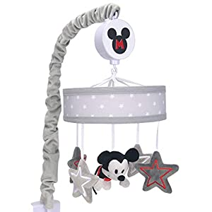 Lambs & Ivy Disney Baby Magical Mickey Mouse Musical Baby Crib Mobile – Gray