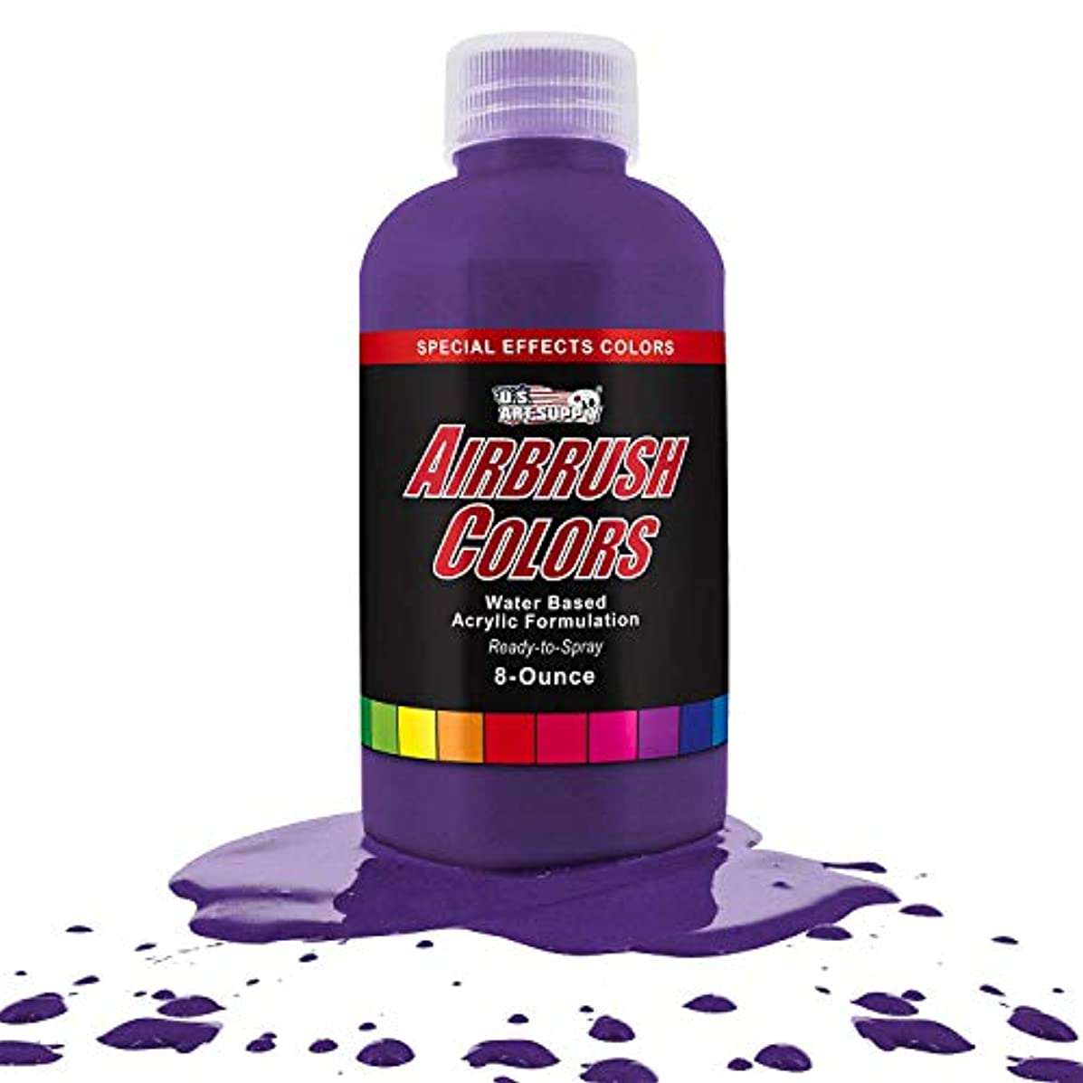 US Art Supply Purple Pearl Pearlized Special Effects Acrylic Airbrush Paint 8 oz.