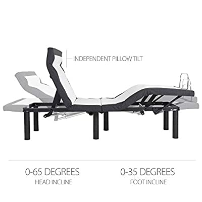 Adjustable Bed Frame with Head Tilt, Massage, Anti-Snore, Zero Gravity, Dual USB Charging Station, Under Bed Nightlight, Wireless Remote Head and Foot Incline