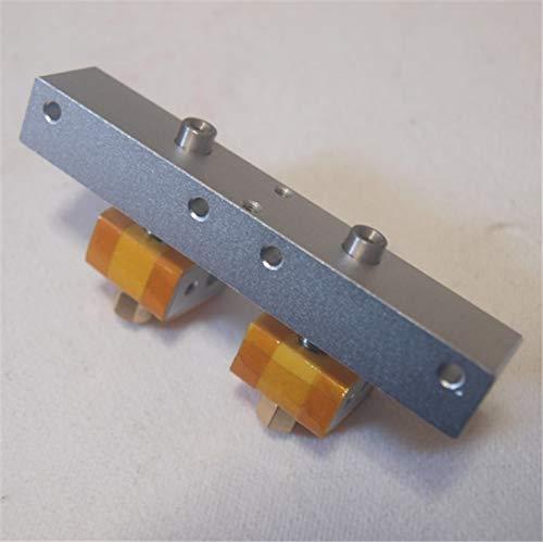 LUOERPI DIY Reprap Replicator Impresora 3D Boquilla de Doble hotend Boquilla de Cabezal de impresión Kit de Tubo de Garganta de PTFE Boquilla de 0,4 mm Bloque Fresco