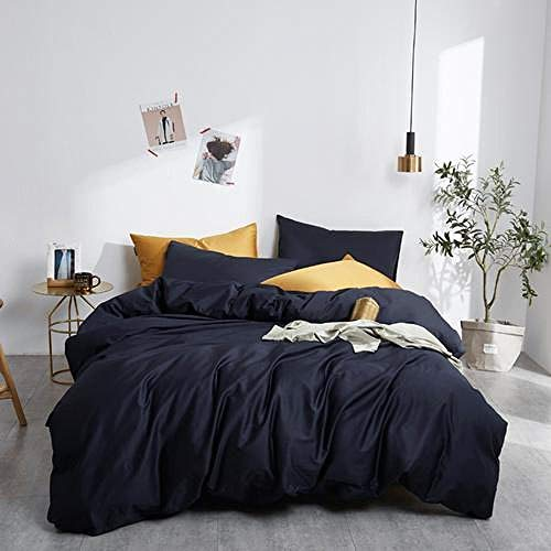 geek cook Bed sheet set queen,Egypt Cotton solid color Bedding set Silky Pure Duvet Cover set Single product bedsheet Pillowcases Twin Queen King Size-5_Twin size 4pcs