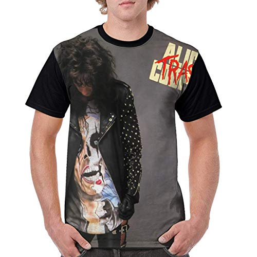 Alice Cooper Trash Music Men Summer Short-Sleeved Print T-Shirt 4XL