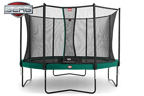 BERG Trampoline Champion round 430 with Safety Enclosure Net Comfort | Premium Trampoline, Kids trampoline, Longer Lifetime Warrenty, Jump higher with TwinSpring and Airflow