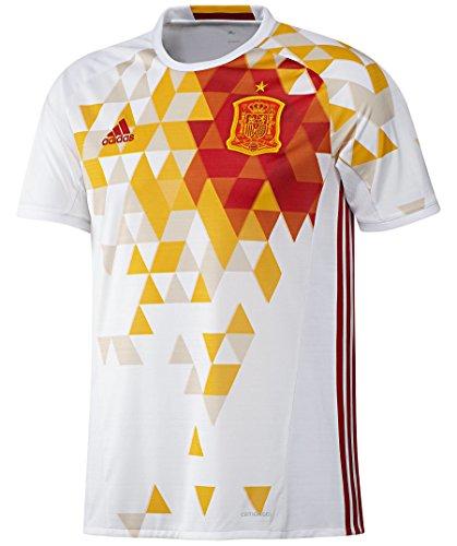adidas Herren UEFA EURO 2016 Spanien Auswärtstrikot Replica Trikot, White/Power Red, L