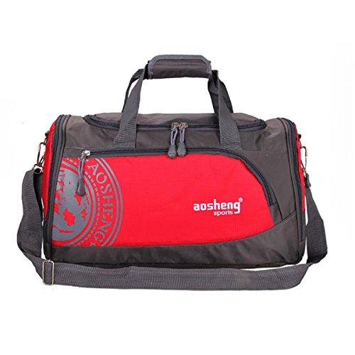 Tutoy Men Woman Gym Bag Gran Capacidad Outdooors Fitness Multifuncional Bolsa De Hombro - Rojo