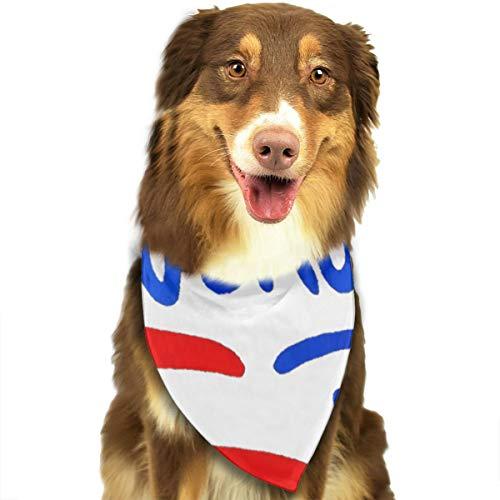 NA dubbele monitor scherm meerdere brand feu blauw bleu hond hoofddoek helder gekleurde sjaals schattig driehoek slabbetjes accessoires voor huisdier honden, Eén maat, Kleuren11