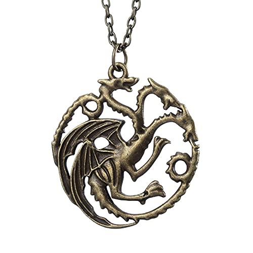 Game of Thrones Targaryen Fire Dragon Halskette Ein Lied Of Ice And Fire Film And TV Zubehör Cosplay Geschenke Für Fans