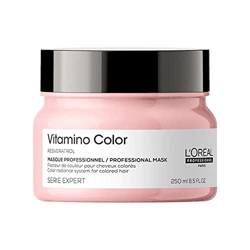L'Oréal Professionnel | Mascarilla Protectora del color para cabellos teñidos, Vitamino Color, SERIE EXPERT, 250ml