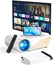 YEHUA Mini Projector with WiFi and Bluetooth,4k Portable Projector HD 1080P and 200