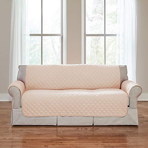 BrylaneHome Water-Control Microfiber Sofa Protector, Natural