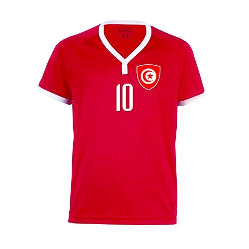 nationshirt Tunesien Trikot BR 10 R - R-R-R Hose + Stutzen WM 2018 World Cup Trikot (116)