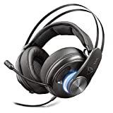 Trust GXT 383 Dion - Auriculares Gaming, Sonido Envolvente Surround 7.1, Negro
