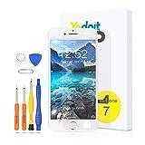 Yodoit Schermo per iPhone 7 Bianco con Tasto Home LCD Display Completo, Vetro Parti di Ric...