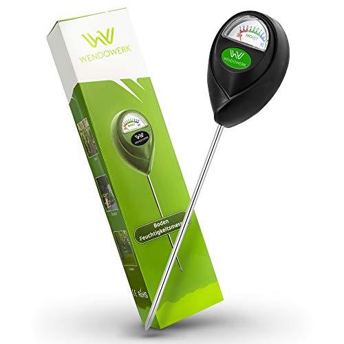 WENDOWERK® Boden Feuchtigkeitsmesser für Pflanzen - [Grün/Schwarz] - Ohne Batterien - Verbessertes Feuchtigkeitsmessgerät Pflanzen [2021] – Premium Bodentester